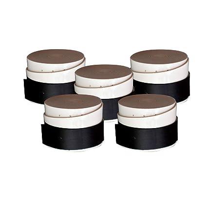 2H SPORT CHANNEL Overgrip Perforado Blanco Pack de 5 para pádel y Tenis
