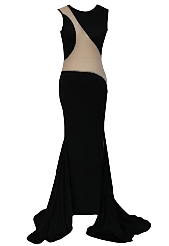 O&W Sexy Peek-a-boo Floor Length Evening Gown