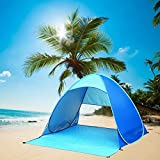 Pop Up Beach Tent, NOT HOME® Automatic Fishing Tent, Portable Outdoors Family Beach Tent Quick Cabana Sun Shelter UPF 50+ (Blue)