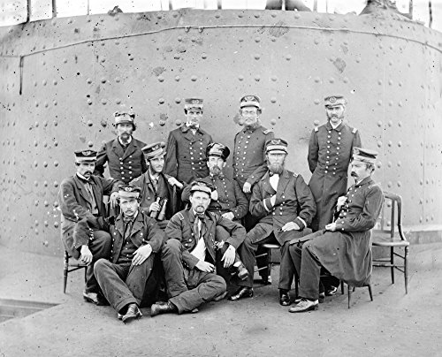James River  Va   Officers Aboard The Monitor Civil War Photograph  12X18 Collectible Art Print  Wall Decor Travel Poster