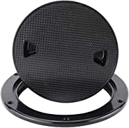 """YaeMarine 6"""" Boat Deck Cover Marine Inspection Hatch Deck Plate Access & Lid Round No"""