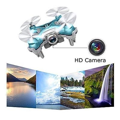 Mini Drone with Camera Live Video, EACHINE E10W WiFi FPV Mini Quadcopter with HD Camera Selfie Pocked Drone RTF - 3D Flip, APP Control, Headless Mode, One-Key Return, LED Lights