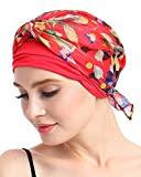 Bamboo Knits Fitted Turban Hat for Cancer Women DIY Easy Tie Chemo Bandana