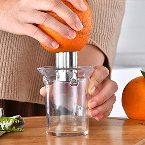 Limón Exprimidor, Portátil Manual Agrios Naranja Exprimidor Lima Prensa de Mano, Verter el caño, Jugo rápido y eficaz