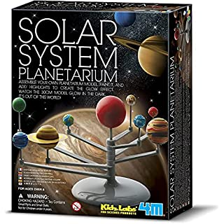 4M 3427 Solar System Planetarium – DIY Glow In The Dark Astronomy Planet Model Stem Toys Gift for Kids & Teens, Girls & Boys
