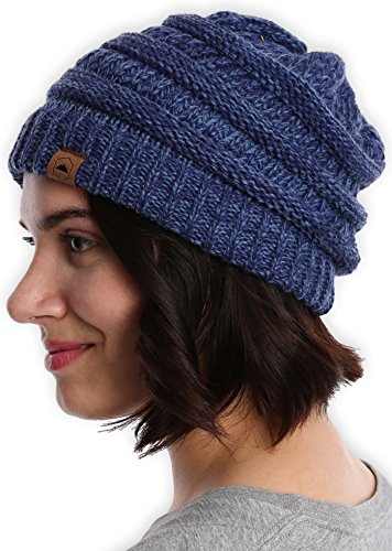 Tough Headwear Cable Knit Beanie - Thick, Soft & Warm Chunky Beanie Hats for Women & Men - Serious Beanies for Serious Style ()