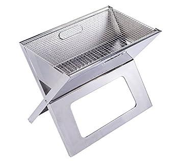 oloroast X compacto plegable portatil barbacoa a carbón vegetal para barbacoa grill al abierto Notebook parrilla