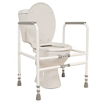 nrs healthcare m00870 free standing toilet frame width height adjustable eligible for vat
