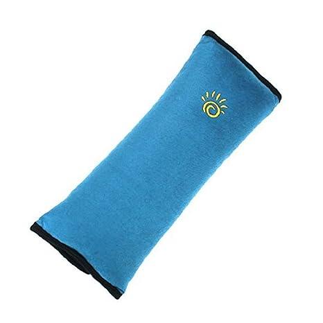 2 x Niños de viaje Cubiertas de cinturón de seguridad para el automóvil Asiento ajustable para niños Almohada del cinturón Almohadillas para niños por ...