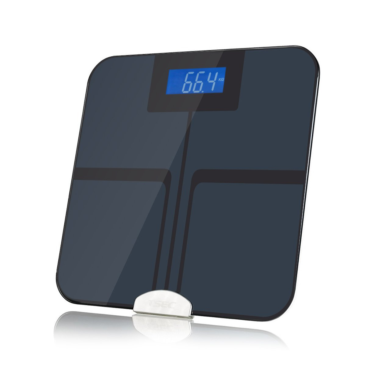 Bluetooth Digital Full Body Weight Scale Smart Electric Bathroom Weight Watcher with Highly Accurate Measurement Including BMI, Body Fat, Muscle Mass, Water, and Bone Mass,Sync with Smart Phone APP