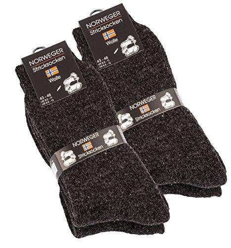 4 paires de chaussettes de Norweger très chaud, de Cottonprime® - Anthracite - Taille 43-46 2