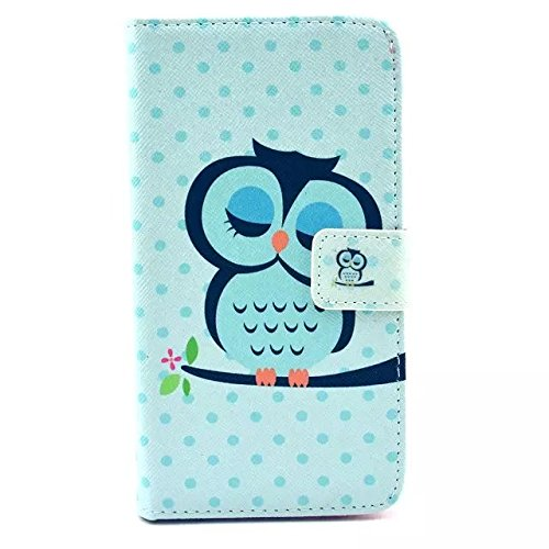 Samsung Galaxy S6 Case, Maxmall Owl Pattern Premium PU Leather Wallet Case And Magnetic Closure With Flip Protective Skin Cover for Samsung Galaxy S6 Case .(Built-in Credit Card/Money Holders)