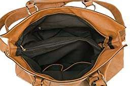 Scarleton Chain Embossed Accent Tote Bag H140604 - Brown