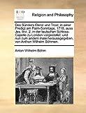 Des Sünders Elend und Trost, Anton Wilhelm Böhm, 1170015751