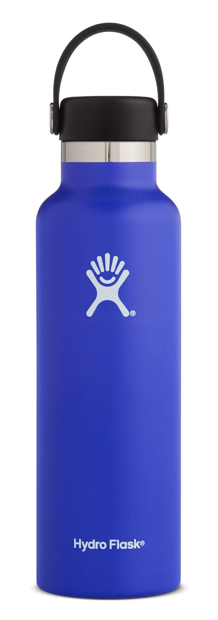 Hydro Flask 21 oz Water Bottle - Stainless Steel & Vacuum Insulated - Standard Mouth with Leak Proof Flex Cap - Blueberry by Hydro Flask