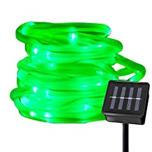 RUICHEN™ Solar Powered String Light,16.5FT 50 LED Strip Rope Tube Fairy Lights Waterproof For Outdoor Garden Wedding Party Christmas Xmas Decoration(Green)