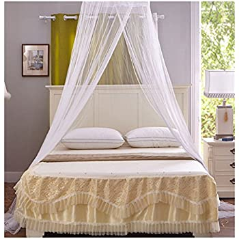 Amazon.com: SHAREWIN Circular Hanging Round Lace Bed ...