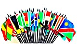 AFRICAN UNION WORLD FLAG SET--52 Polyester 4''x6'' Flags, One Flag for each country in the African Union, 4x6 Miniature Desk & Table Flags, Small Mini Stick Flags