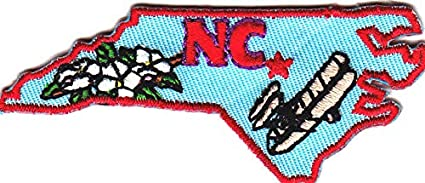 NORTH CAROLINA STATE SHAPE Iron On Patch South State Shape