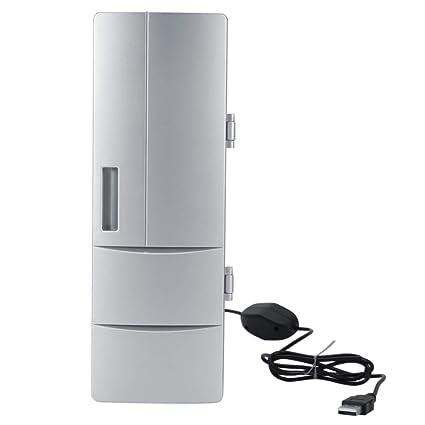 Amazon.es: ZAZCB Refrigerador Mini USB Nevera congelador latas ...