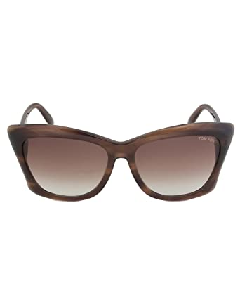 195dd35629 Amazon.com  Tom Ford Lana FT0280 Sunglasses 50F Striped Brown  Tom ...