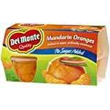 Del Monte Mandarin Oranges No Sugar Added 4ct - 2 Pack