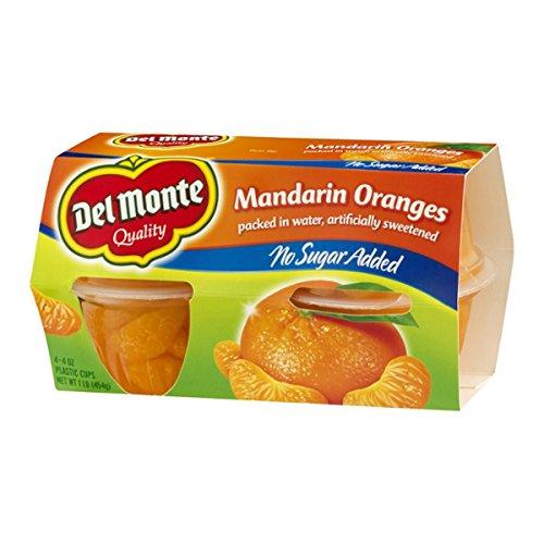 Del Monte Mandarin Oranges No Sugar Added 4ct - 2 Pack
