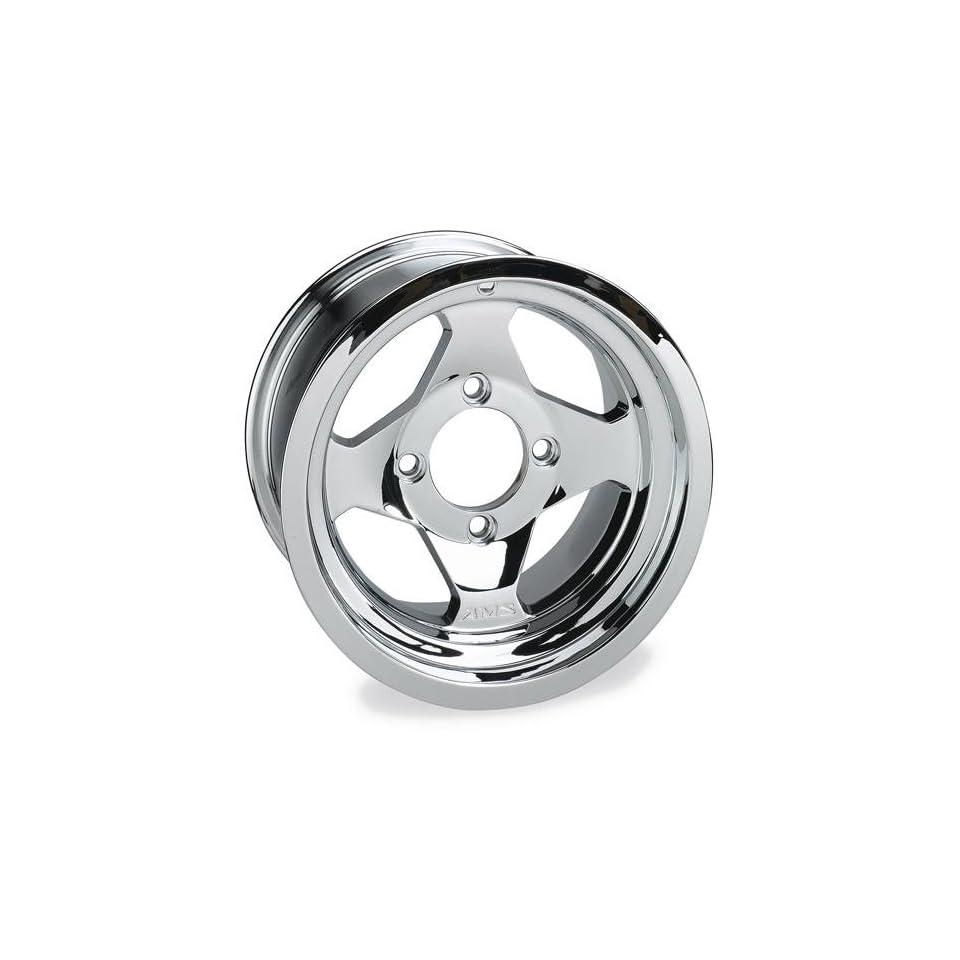 AMS Cast Aluminum Utility ATV Wheel   12x7   4+3 Offset   4/137   Chrome, Position Front, Wheel Rim Size 12x7, Rim Offset 4+3, Color Chrome, Bolt Pattern 4/137 0021270F CHR