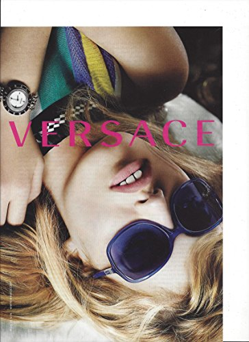 Magazine PRINT AD With Georgia May Jagger For 2010 Versace Violet Frame Sunglasses --PRINT - Georgia Jagger