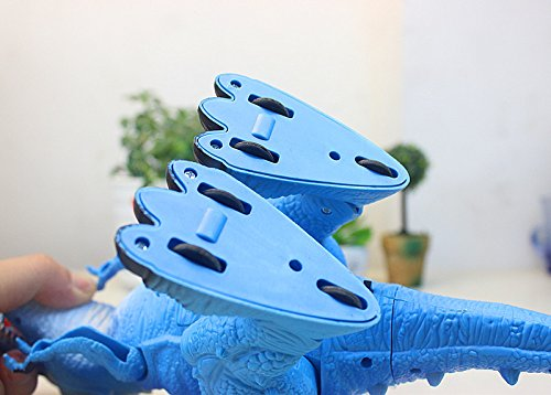 T-Rex Electronic Walking Dinosaur with Flashing Lights and Realistic Animal Sounds (Blue) by Vabliss (Image #8)