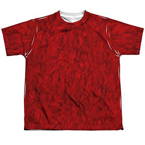 Kids Elmo Costume Sublimation Shirt (Front & Back), Medium ()