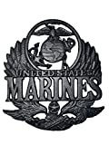 united states decor - Military United States Marine Corp Metal Cast Iron Wall Art Memorabilia Decor