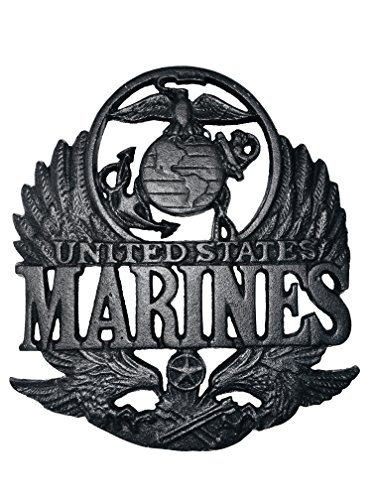 (Military United States Marine Corp Metal Cast Iron Wall Art Memorabilia Decor)
