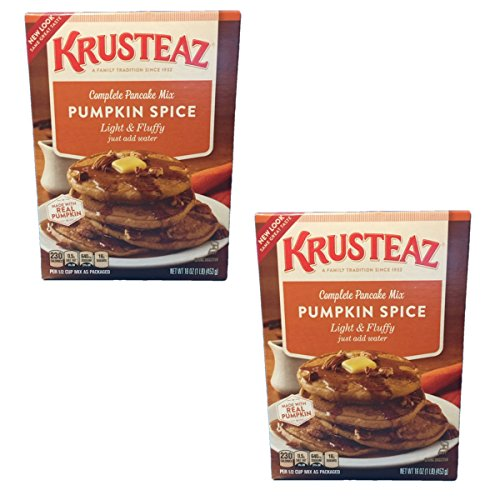 Krusteaz Pumpkin Spice Complete Pancake Mix - Made with REAL Pumpkin - 2 pack of 16oz boxes by Krusteaz