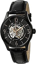 Stuhrling Original Men's 'Legacy' Automatic Stainless Steel and Black Leather Dress Watch (Model: 557.03)