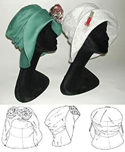 Retro Vintage Style Hats 1910's - 1920's Metropolitan Hat Pattern $12.95 AT vintagedancer.com