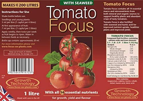 Growth Technology Tomato Focus 1 litro Nutrientes para Plantas ...