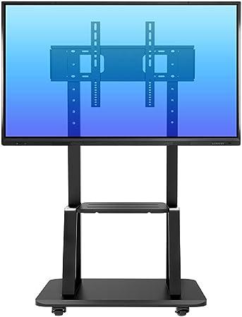 Soporte TV Trole Soporte para TV para servicio pesado con ruedas, carro giratorio para TV negro