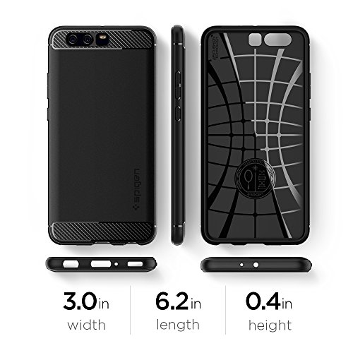 Spigen Rugged Armor Huawei P10 Plus Case with Resilient Shock Absorption and Carbon Fiber Design for Huawei P10 Plus(2017) - Rugged Armor by Spigen (Image #9)