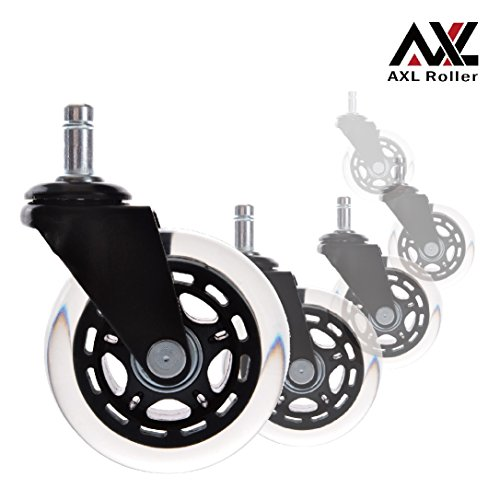 AXL Wheels for Office Chairs 3 inch PU Rollerblade Style ...