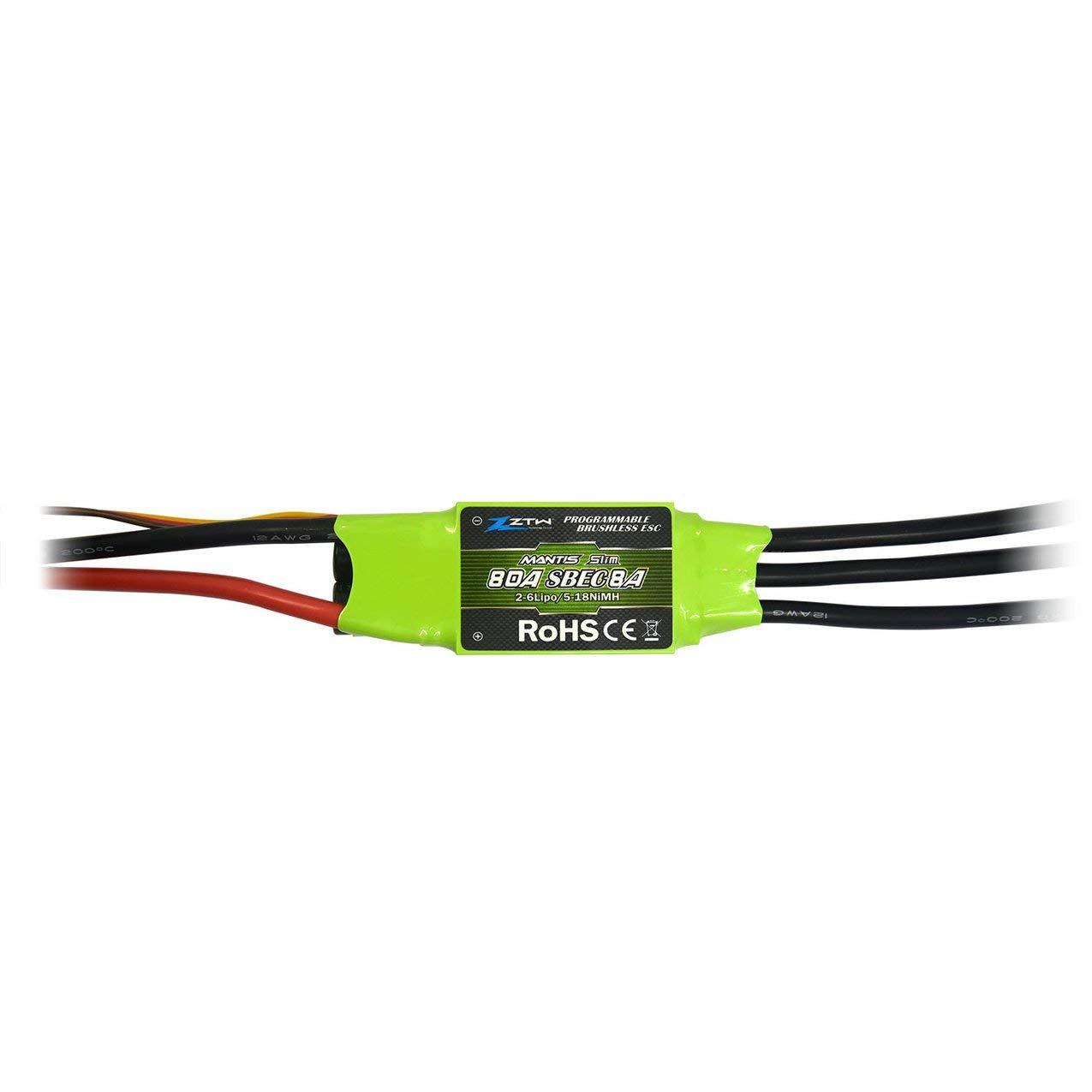 ZTW Mantis Slim SBEC 80A SBEC Slim Brushless Speed Controller ESC for RC Drone Airplane 2fb5b0