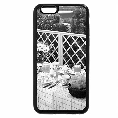 iPhone 6S Plus Case, iPhone 6 Plus Case (Black & White) - Afternoon table