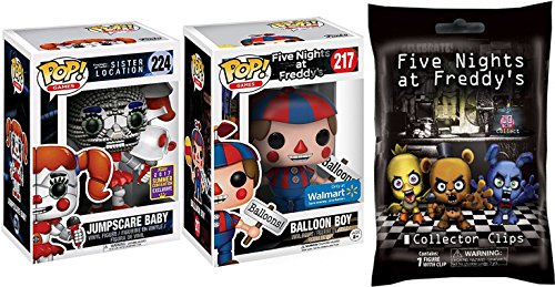 Five Nights at Freddy's Blind Bag Backpack Hanger + Exclusive Vinyl Pop! Balloon Boy #217 & SDCC Convention #224 Jumpscare Baby Sister - Myer Locations
