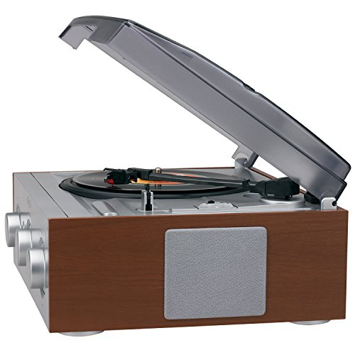 Jensen 3-Speed Stereo Turntable with AM/FM Stereo Radio (Silver) by Jensen (Image #2)