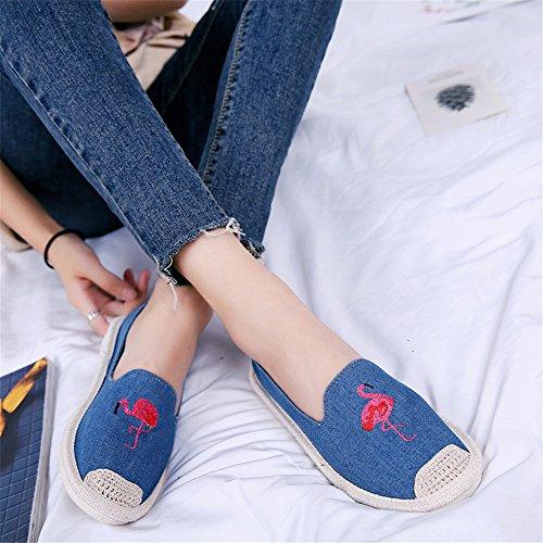 2 Slim Spring Flats Canvas Casual Summer Highdas Slip Shoes Breathable WoMen Espadrille On xAqIB7