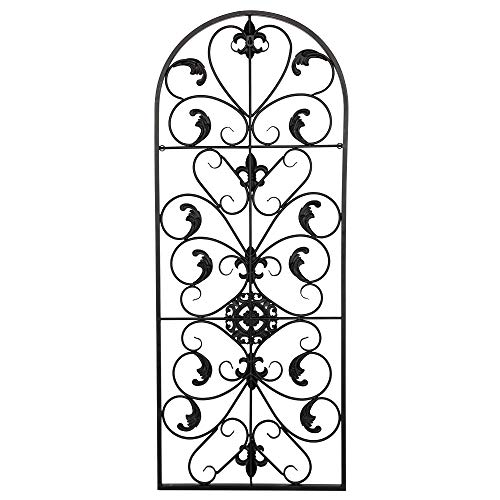 - Mojogy Garden Trellis Wrought Iron Heavy Scroll Metal Decoration Victorian Style Iron Ornament -41.54 x 16.61 x 0.59 Inches