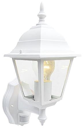 4 Cara Blanca pared – Farol con detector de movimiento PIR IP43 iluminación exterior s5905