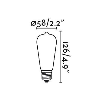 Faro Barcelona E27 LED 17428 - Bombilla (bombilla incluida) LED, 4W, cuerpo