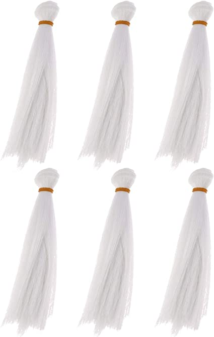 5pcs//lot,25x100cm Straight Right Blonde Heat Resistant Hair Wefts for DIY Doll Wigs Handcraft Material