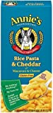 Annie's Homegrown Gluten-Free Rice Pasta & Cheddar Mac & Cheese 6-Ounce (Pack of